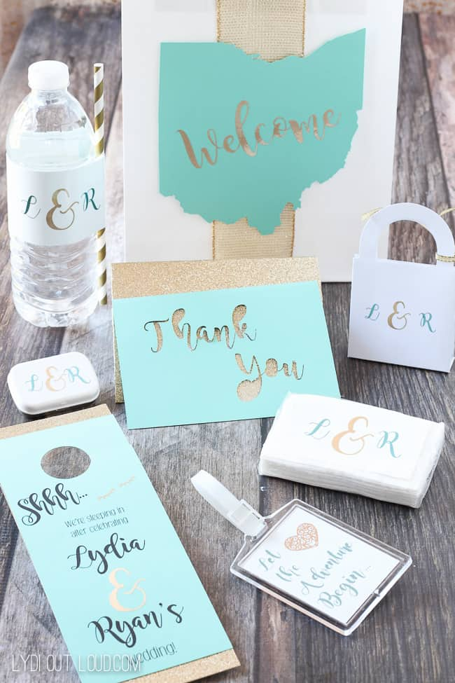 25 diy wedding ideas with cricut wedding guest gift bags 5037 solutioingenieria Image collections