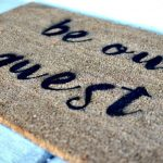 DIY Stenciled Doormat With Cricut