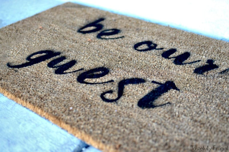 Diy Beauty The Beast Inspired Stenciled Doormat Make Your Own In Less Than