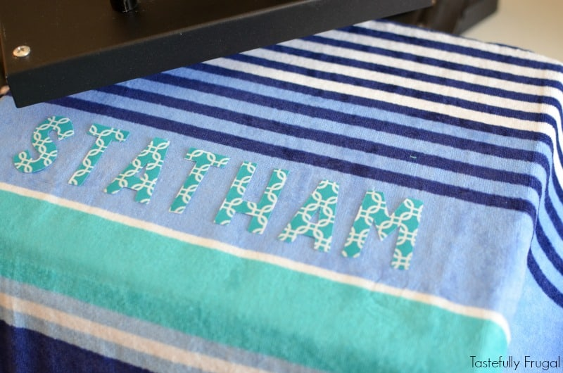 Diy Custom Beach Towels And How To Cut Fabric With Cricut Explore Air Tastefully Frugal