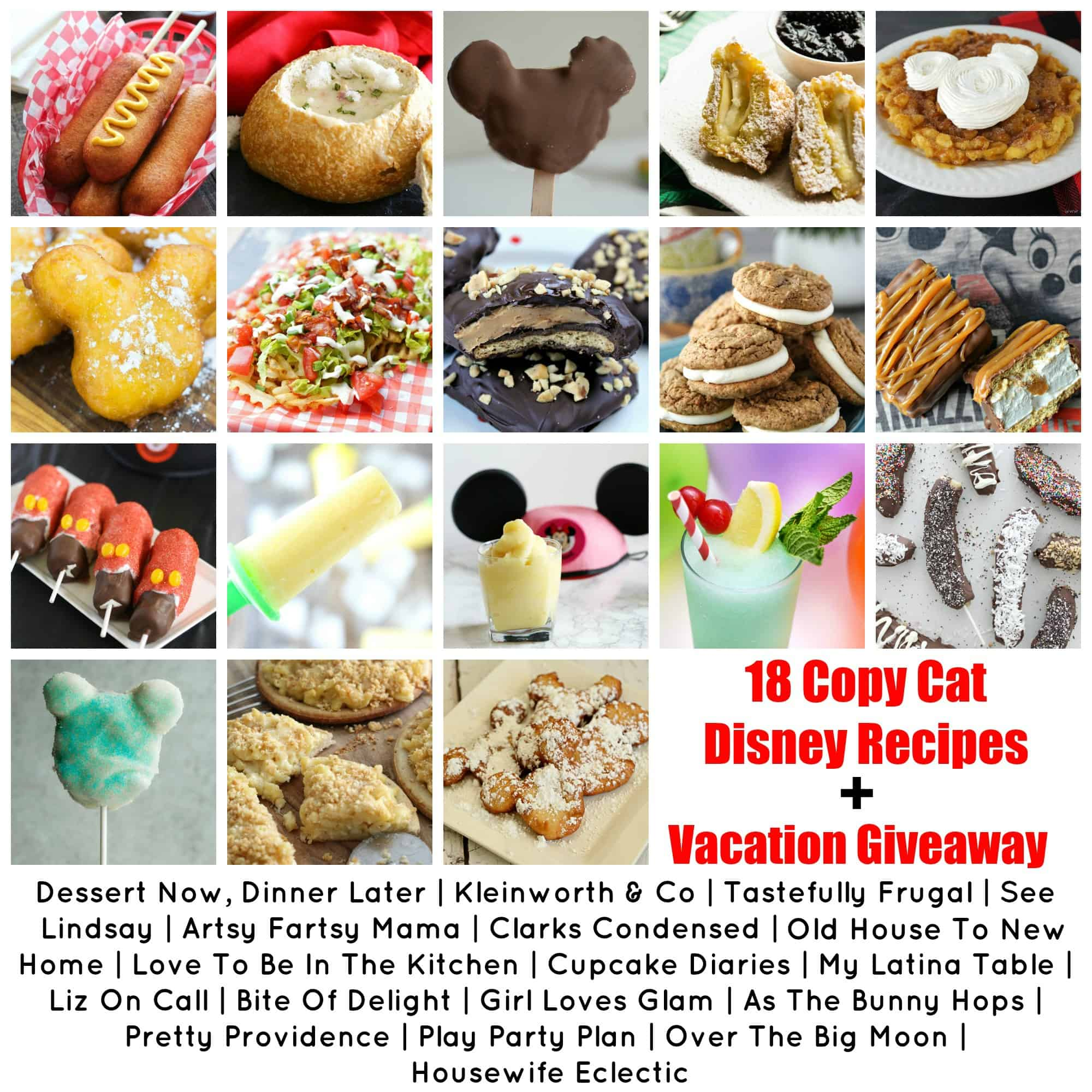 18 Copy Cat Disney Recipes AND Southern California Vacation Giveaway