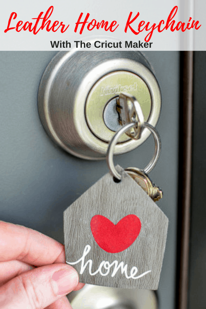 Make this Leather Home Keychain in just minutes with the new Cricut Maker!