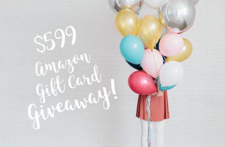 $599 Amazon Gift Card Giveaway