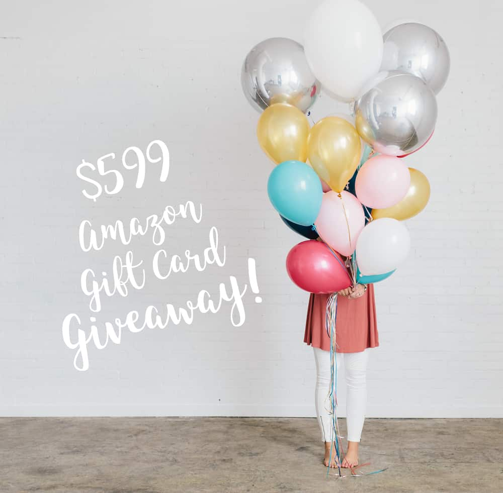 $599 Amazon Gift Card Giveaway