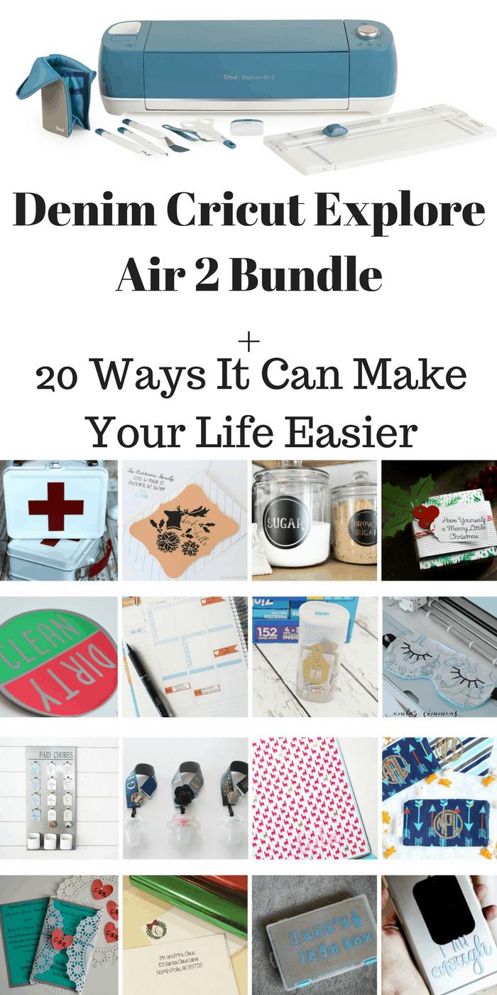 New Denim Cricut Explore Air 2 Bundle 20 Ways It Can