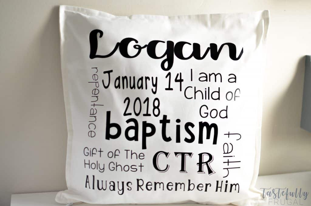 Have an 8 year old getting baptized soon? These pillows make great gifts!