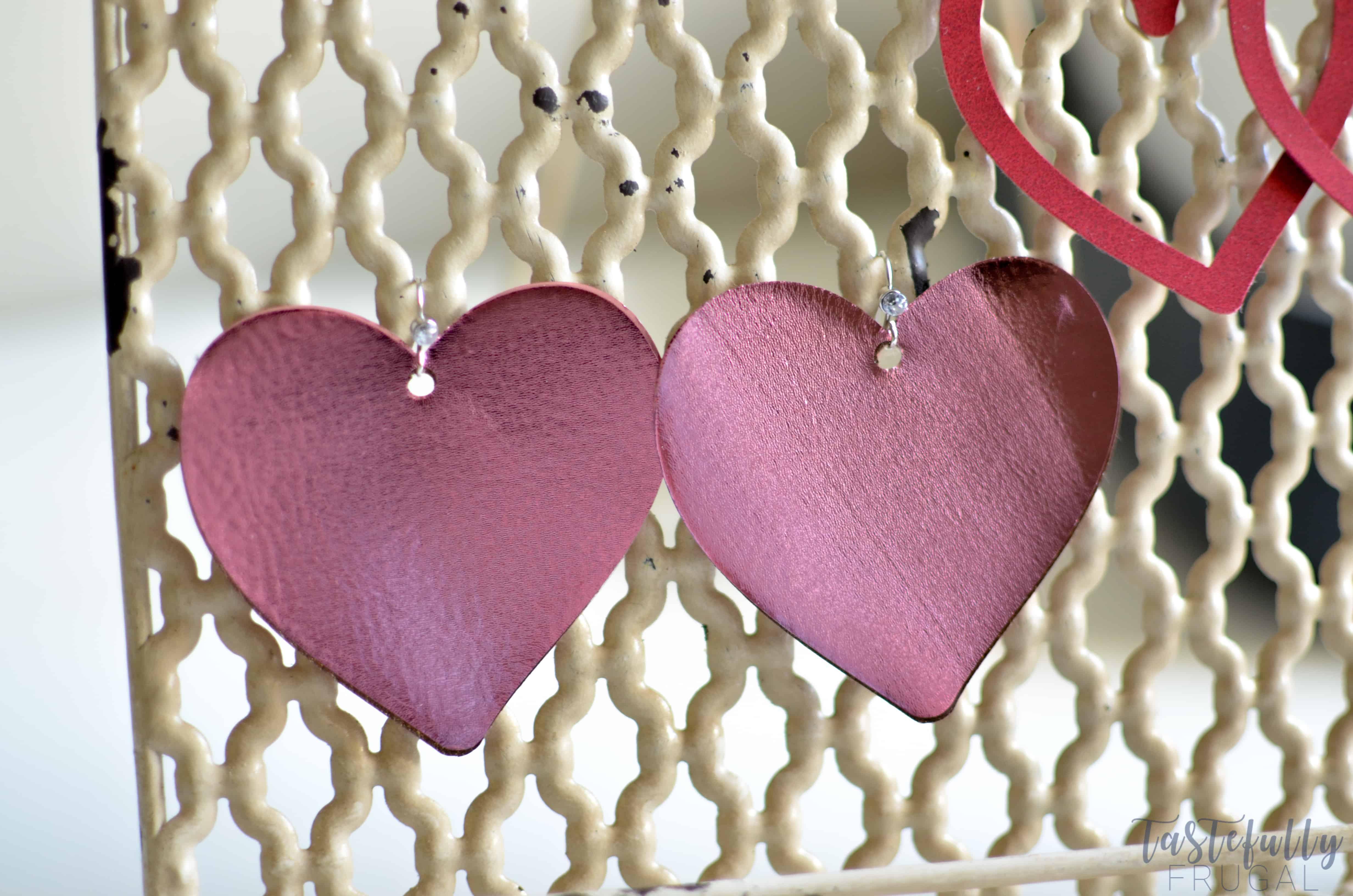 Diy Faux Leather Heart Earrings Tastefully Frugal