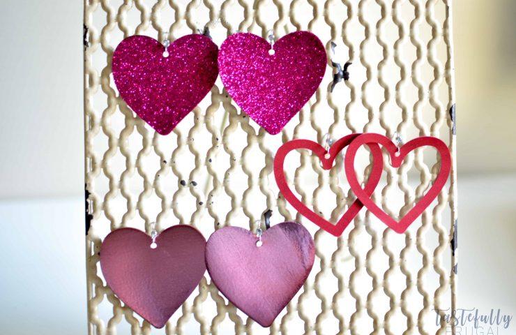 DIY Faux Leather Heart Earrings