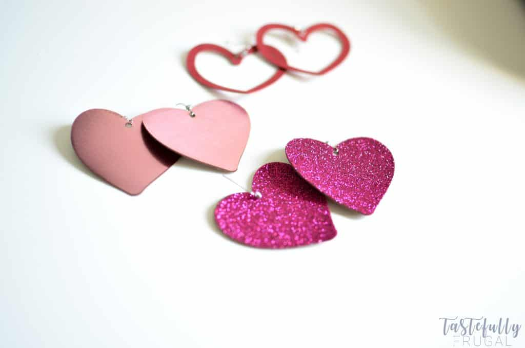 Make these cute earrings for Valentine's Day in 10 minutes or less with Cricut
