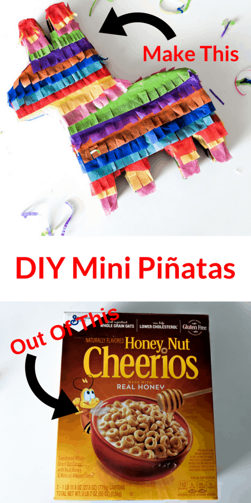 Make Mini Pinatas out of cereal boxes with your Cricut Maker in less than 30 minutes!