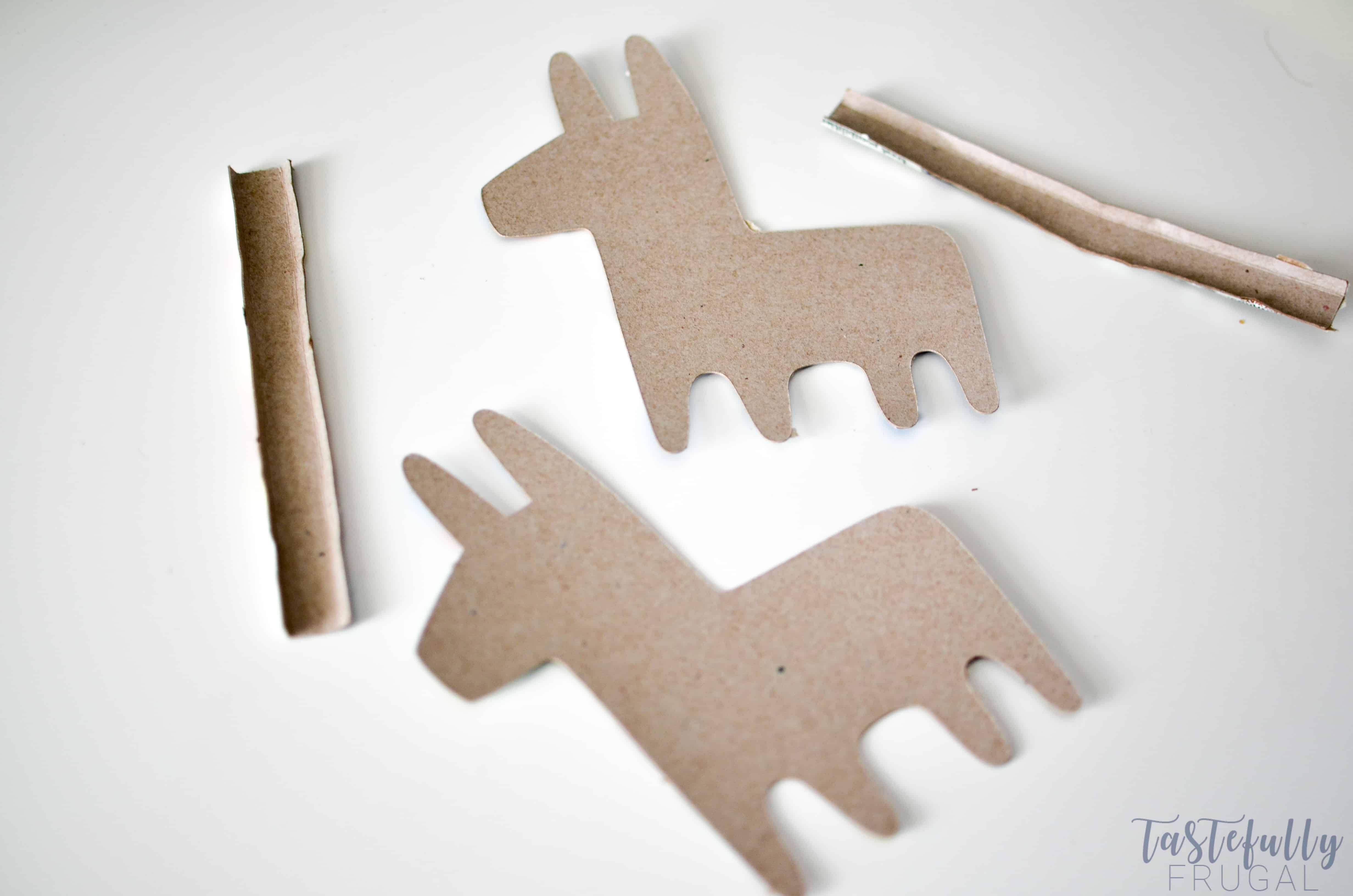 photo regarding Donkey Pinata Template Printable known as Do it yourself Mini Piñatas With The Cricut Manufacturer - Tastefully Frugal