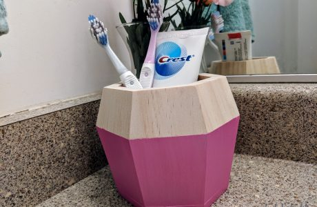 DIY Toothbrush and Toothpaste Holder