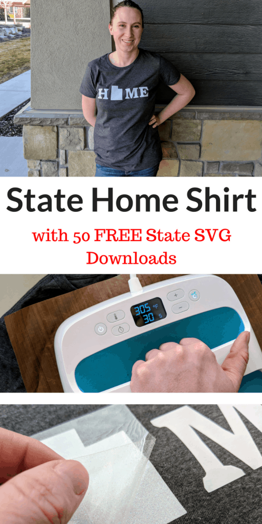 DIY Home Shirt w/ 50 States + FREE SVG Downloads