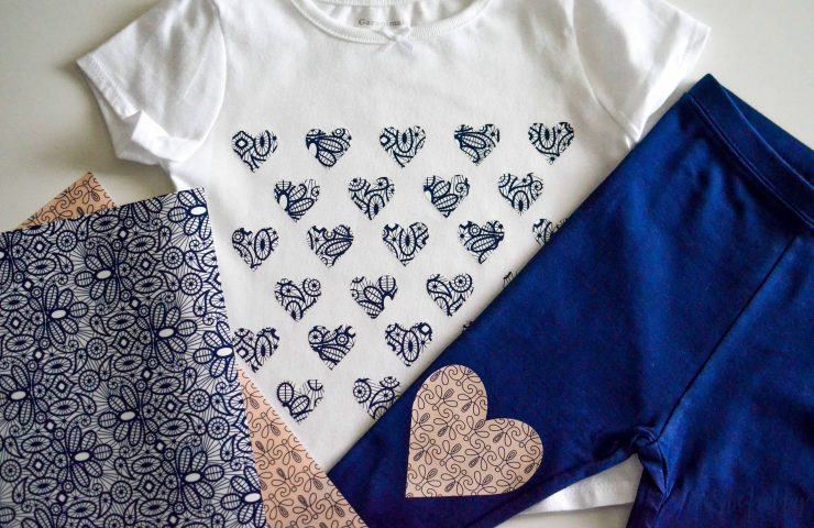 Heart Outfit With The New Cricut Patterned Iron On