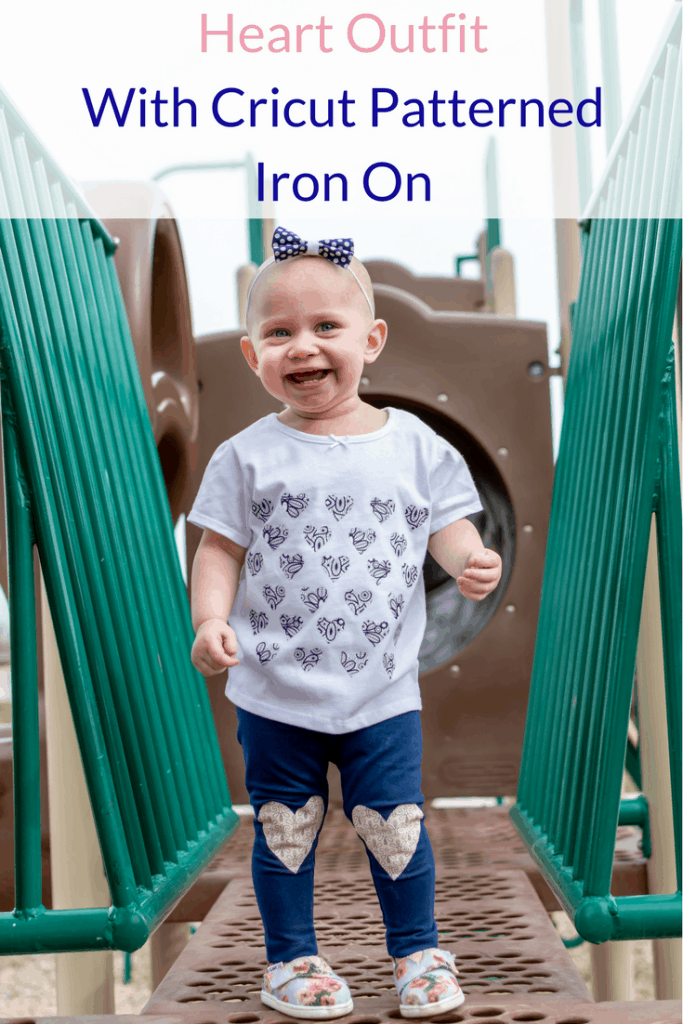 Make this cute shirt and leggings in less than 5 minutes with the new Cricut Patterned Iron On #ad #CricutStrongBond #Cricut #CricutMade