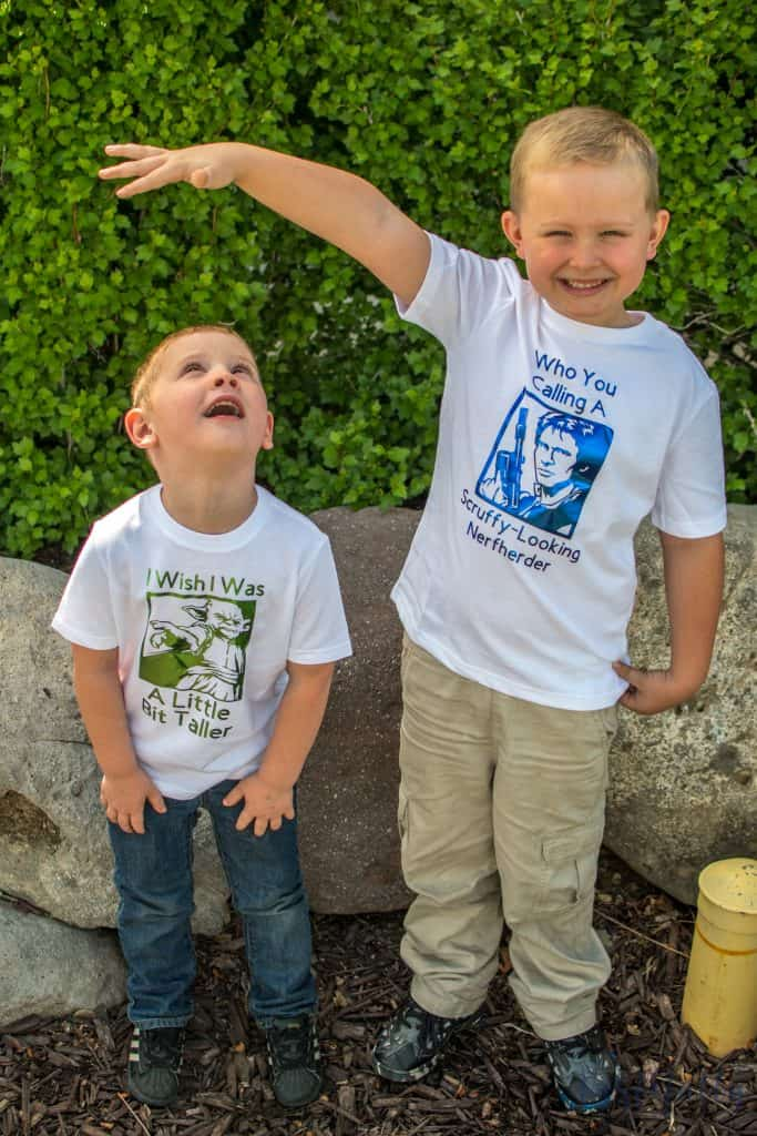 These DIY Star Wars shirts are great for May The Fourth or any Star Wars Party