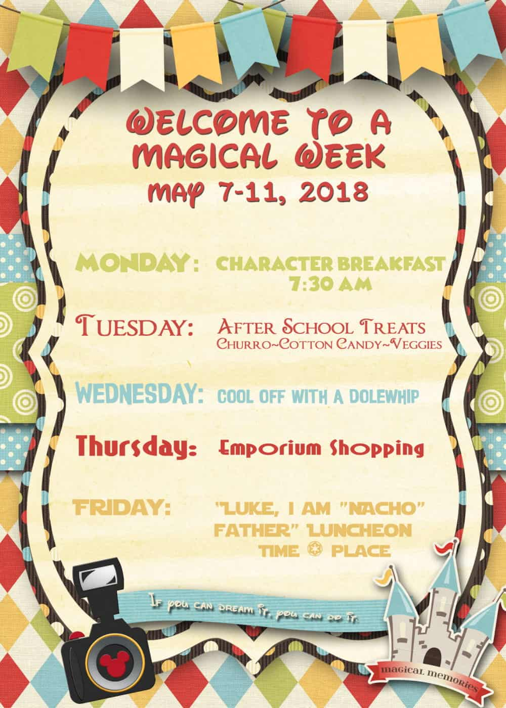 Disneyland Themed Teacher Appreciation Week Tastefully