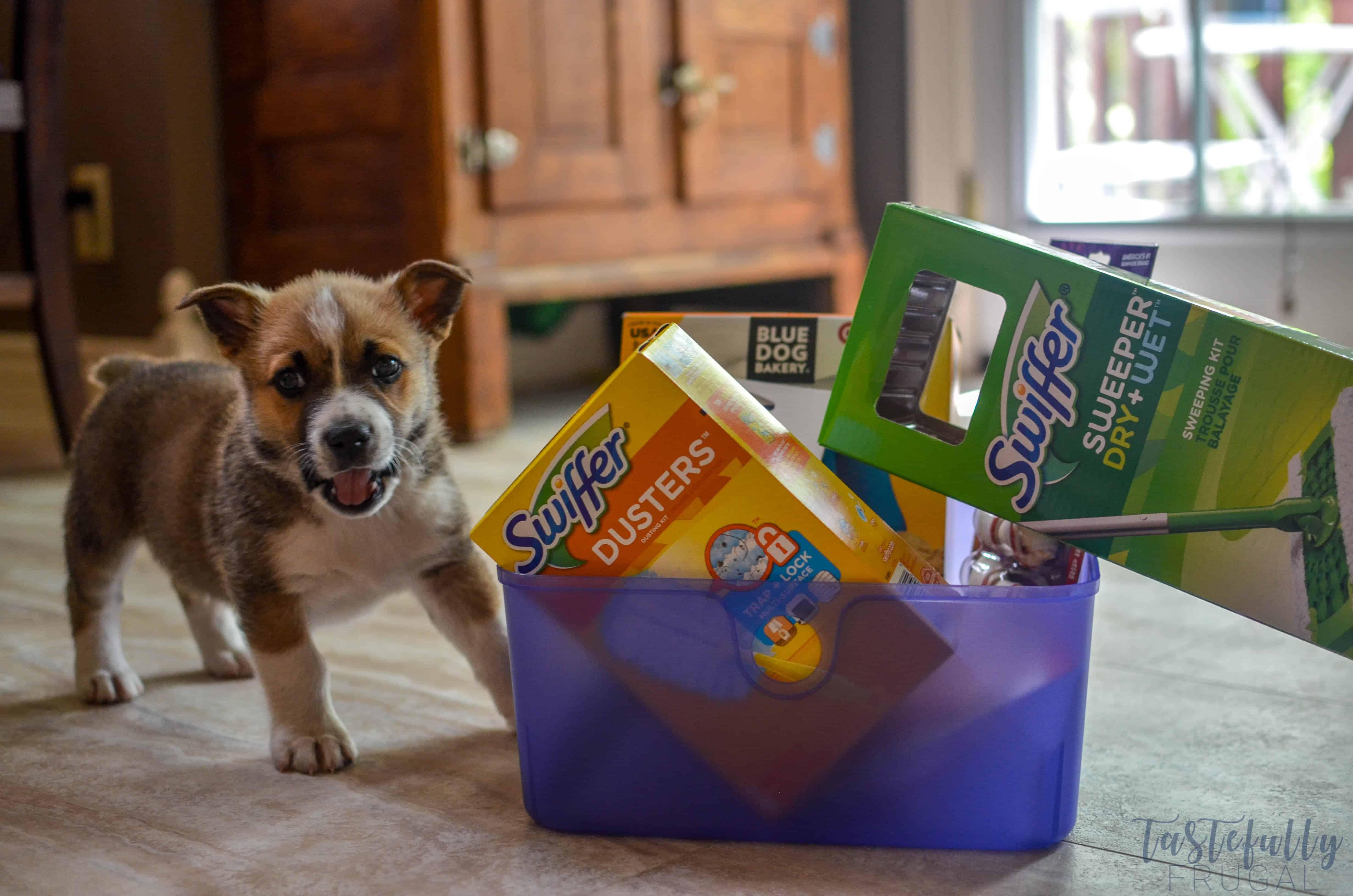 New Puppy Gift Basket Tastefully Frugal