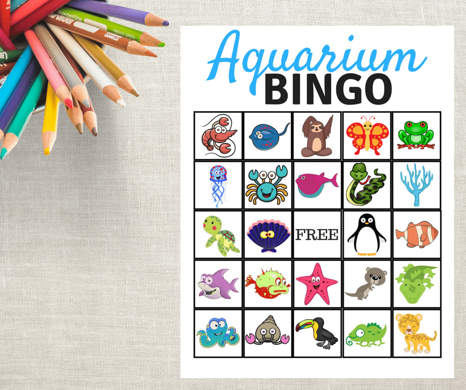 FREE Aquarium Bingo Game