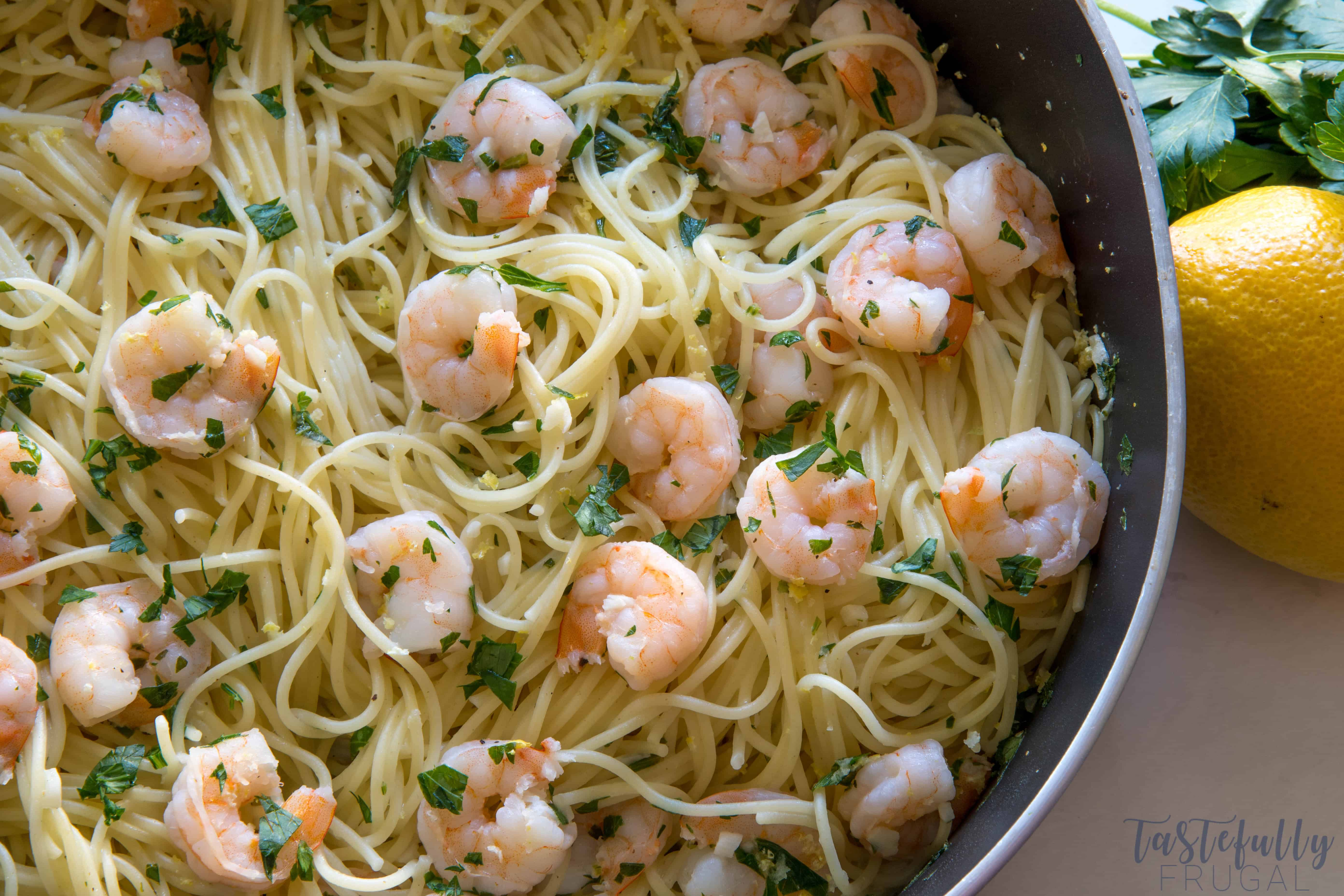 This Shrimp Scampi is a quick and easy dinner recipe is packed full of flavor and is sure to be a crowd pleaser!