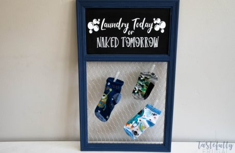 DIY Laundry Room Sign And Missing Sock Holder