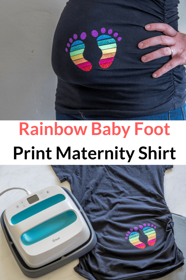 Rainbow Baby Maternity Tee with FREE SVG