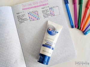 Take care of yourself and have fun tracking it with this fun bullet journal inspiration! #ad #ForGumsSake #AvailableatTarget