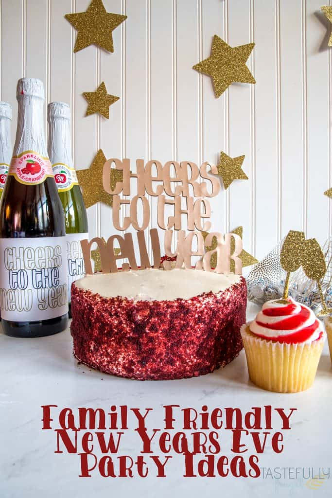 Create this family friendly New Years Eve Party in 1 hour with your Cricut Maker #ad