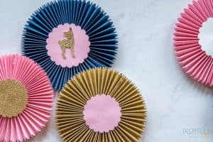 Learn the easy way to make paper rosettes with your Cricut Maker and scoring wheel! #ad