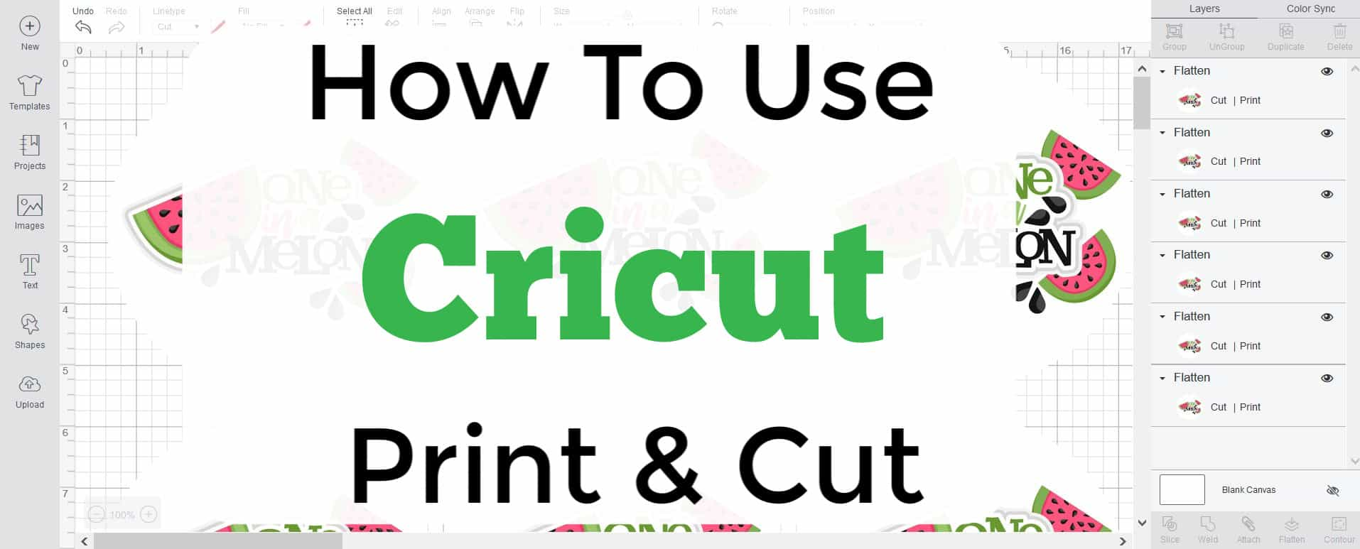 How To Use The Print And Cut Feature In Cricut Design