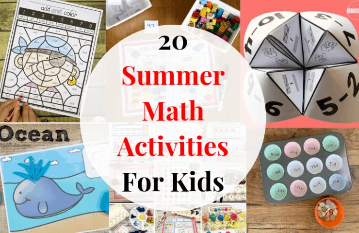 20 Summer Math Activities For Kids