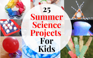 Your little scientist will be entertained all summer with these easy sceince experiments!
