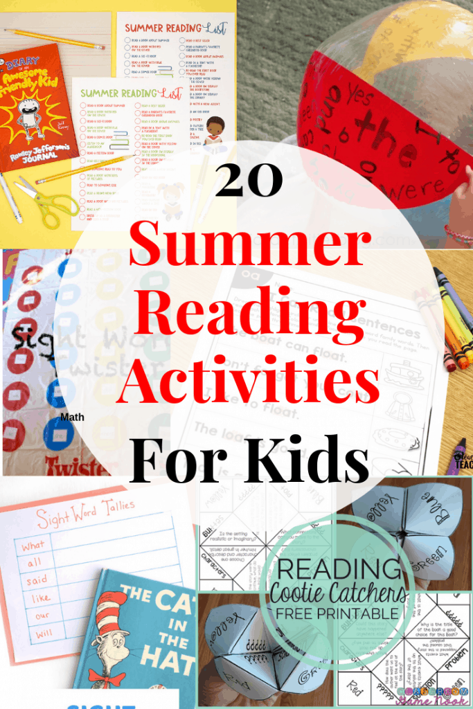 Keep your kids reading levels up this summer with these summer reading activities!