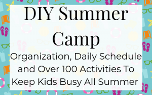Everything you need to make your own summer camp at home!