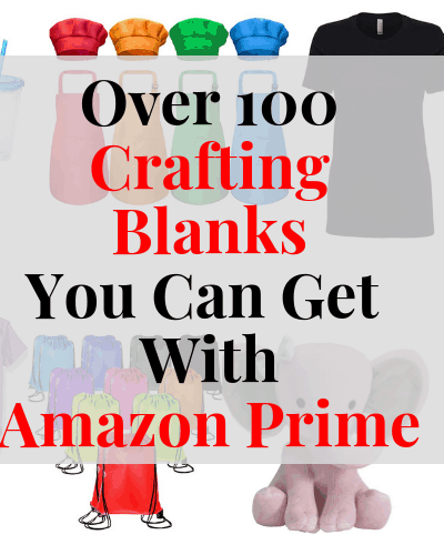 Get your craft blanks for your Cricut or Silhouette projects in 2 days or less with Amazon Prime!