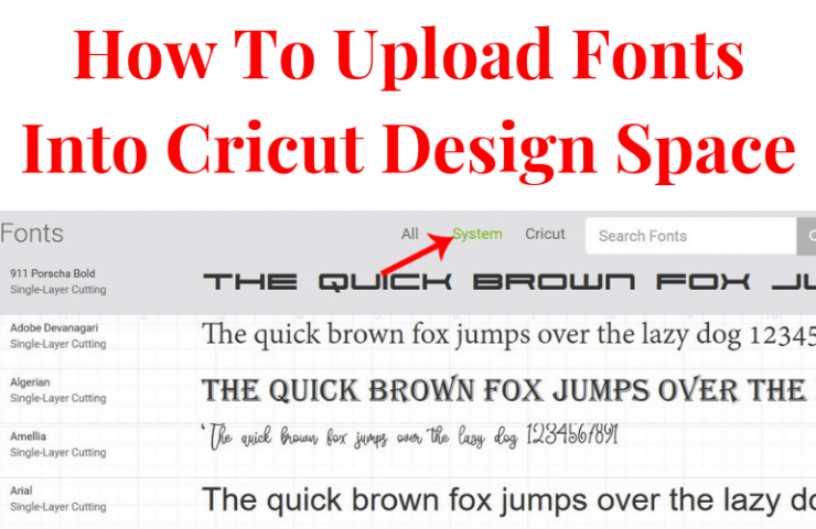 How To Upload Fonts Into Cricut Design Space