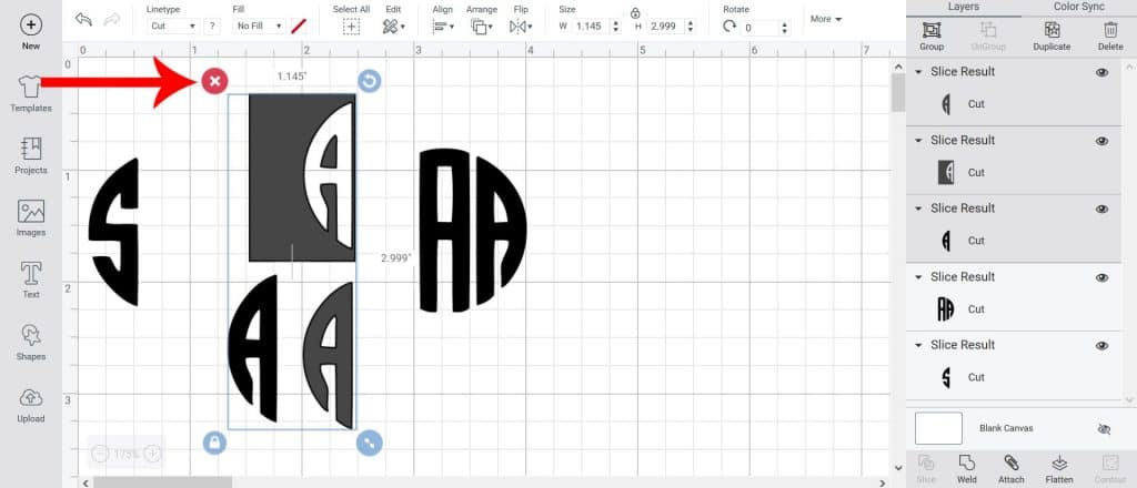 Learn how to create a monogram using free fonts in Cricut Design Space