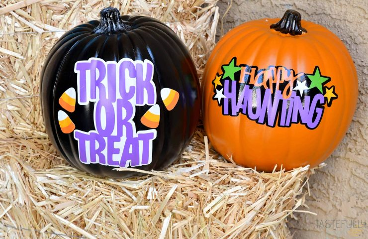 No Carve Halloween Pumpkins with Cricut