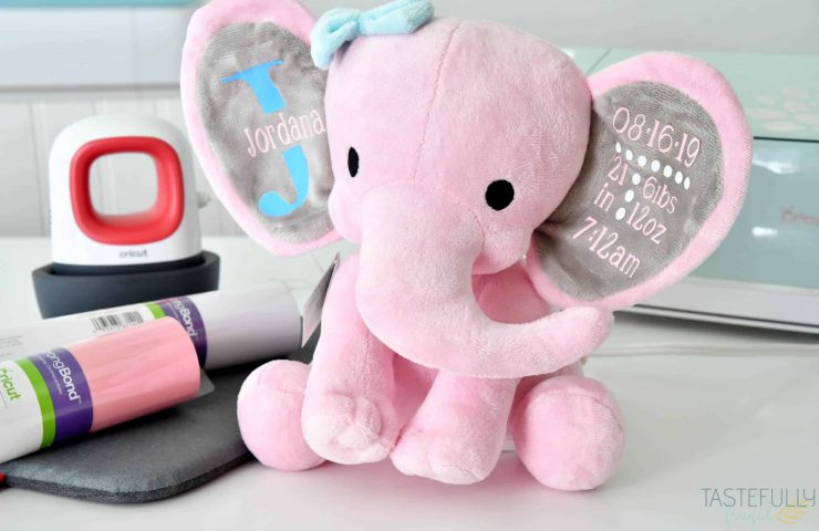 Birth Announcement Stuffed Animal With Cricut EasyPress Mini