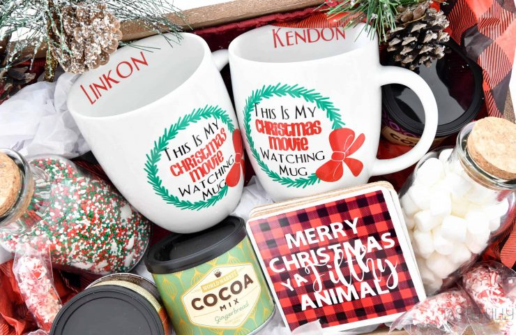 Personalized Christmas Gift Basket With Cricut Explore Air 2