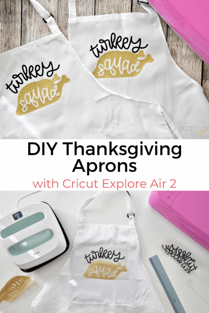 Easy DIY Thanksgiving Apron for less than $10! #ad #cricutcreated