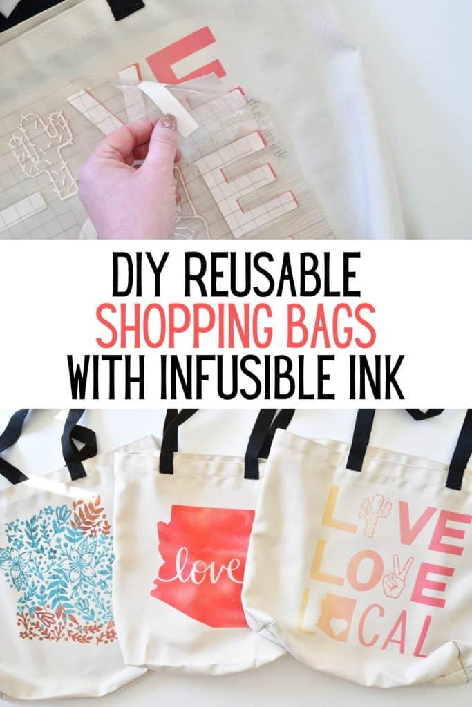 Make your own Reusable Shopping Bags with Cricut #ad #cricutcause
