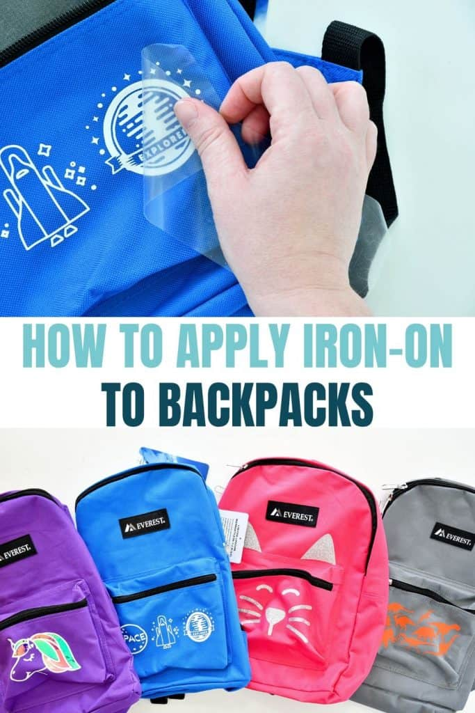 Learn how to use the Cricut EasyPress Mini to customize backpacks #ad #cricutcreated