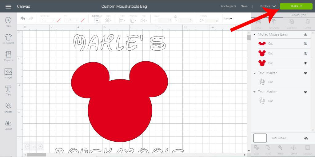 Make this fun Mickey Craft with Mesh Iron-On Vinyl!