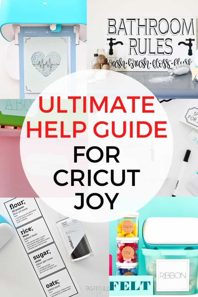 Learn how to use your Cricut Joy with this help guide including tips, tricks and project ideas!